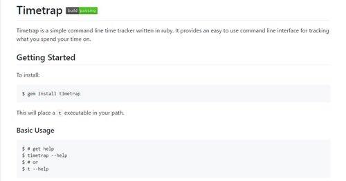 Timetrap ein simples command line Zeiterfassungstool