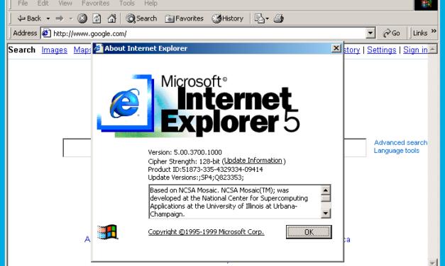 Test von älteren Projekten im Crossbrowsertesting: Kann der Internet Explorer 6 oder 5 heutzutage noch getestet werden?